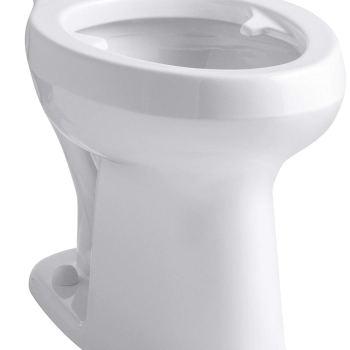KOHLER Highline Toilet with Pressure Lite Flushing Technology and Bedpan Lugs in White White K-4304-L-0