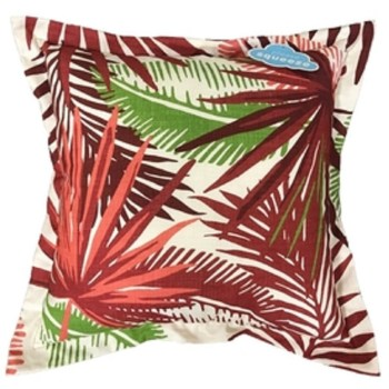 LOT OF 2** Allen + Roth Outdoor/Indoor Floral Red Square Throw Pillow 880486