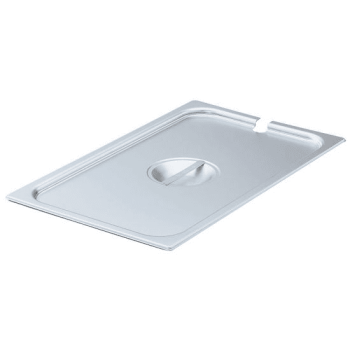Vollrath 75249 Stainless Steel Slotted 1/4 Size Lid (6-Pack)