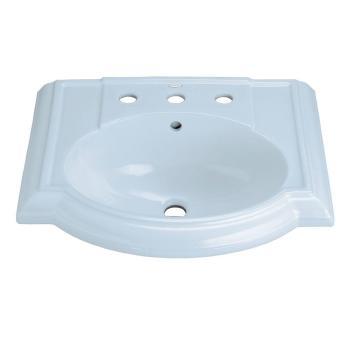 KOHLER Devonshire 4-7/8″ Pedestal Sink Basin in White with Overflow K-2287-8-0