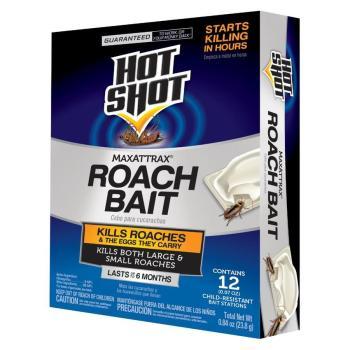 Hot Shot MaxAttrax 12-Count 12 Count Roach Bait HG-2030W-5