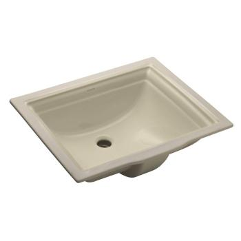 KOHLER Memoirs Undermount Bathroom Sink in Almonds with Overflow Drain K-2339-47