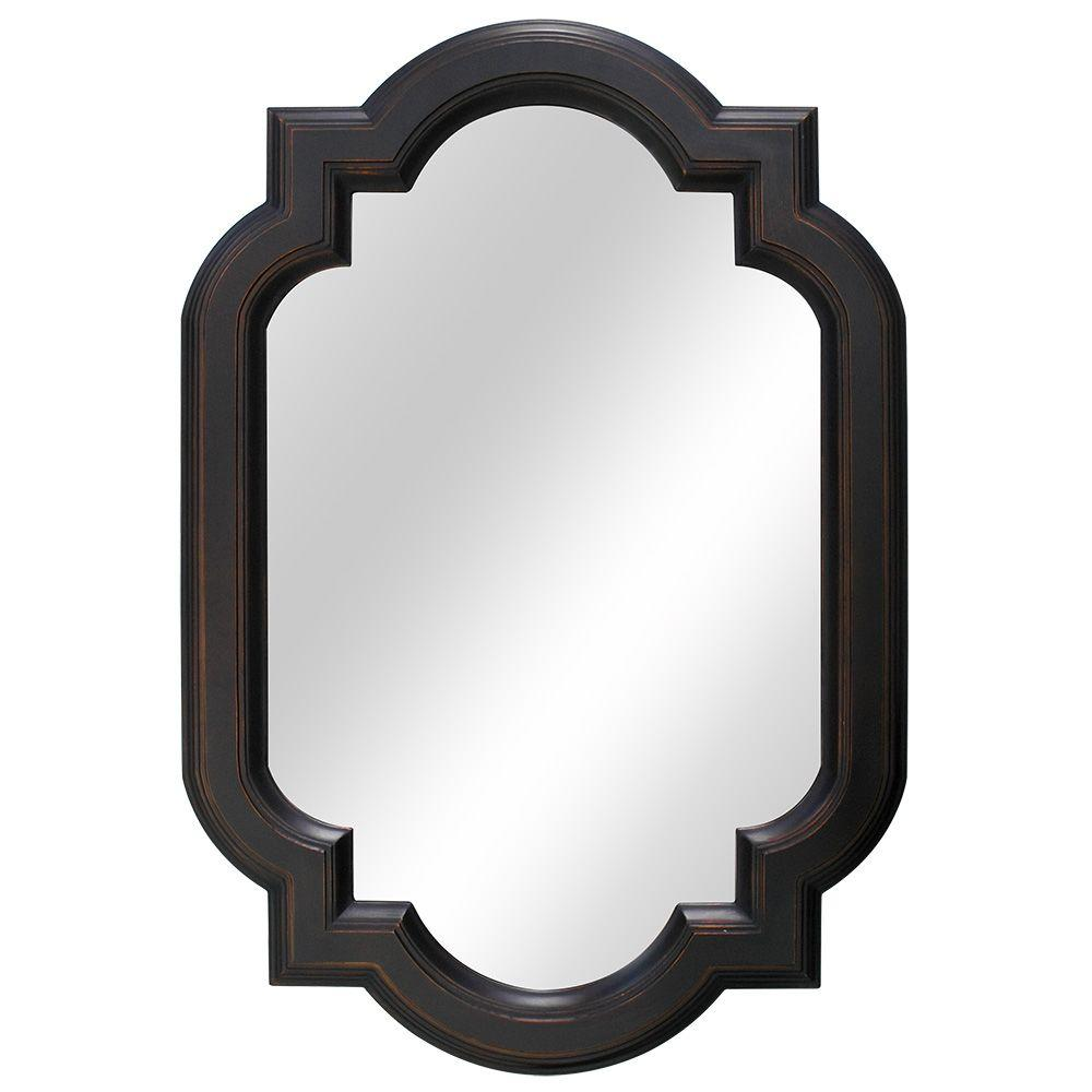 Home Decorators Collection 22″ x 32″ Framed Fog Free Mirror in Oil Rubbed Bronze