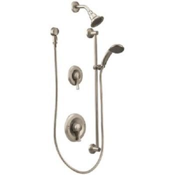 MOEN Commercial 1-Handle Posi-Temp Shower Trim Kit in Brushed Nickel *No Valve*
