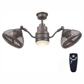 Home Decorators Collection Pendersen 42in. LED Indoor/Outdoor Bronze Ceiling Fan