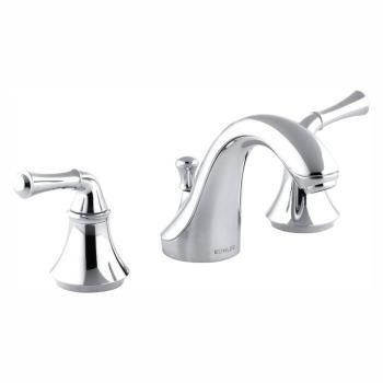 KOHLER Forte 8 in. Widespread 2-Handle LowArc Bathroom Faucet in Polished Chrome