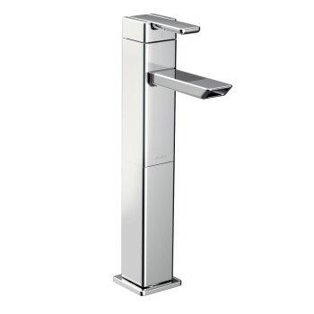 Moen 90 Degree Chrome 1-Handle Single Hole Vessel Bathroom Sink Faucet S6711