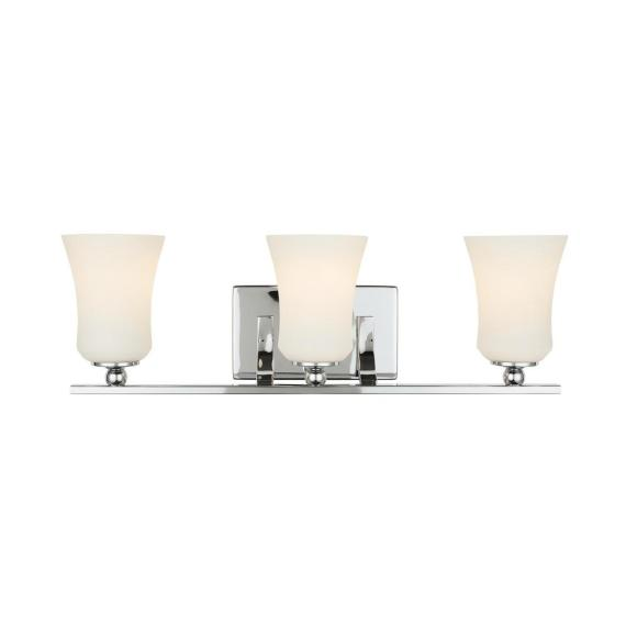 Home Decorators Collection 3-Light Chrome Square Bath Vanity Light 15333