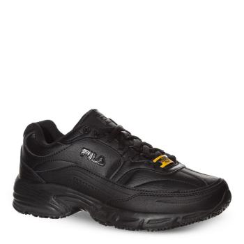 Fila Women's Memory Slip Resistant Athletic Soft Toe BLACK Size 10(W) 5SGW0002