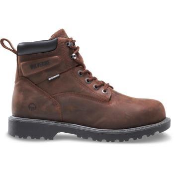 "Wolverine Men's Floorhand Waterproof 6"" Boots Soft Toe Brown 8.5(M) W10643"