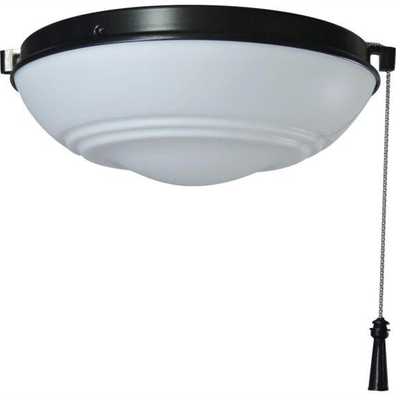 Hampton Bay Raleigh LED Natural Iron Light Kit Ceiling Fan 91186