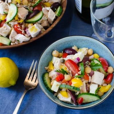 Lemon-Scented Chicken and Farro Salad