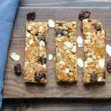 Cherry Almond Granola Bars | Garlic & Zest