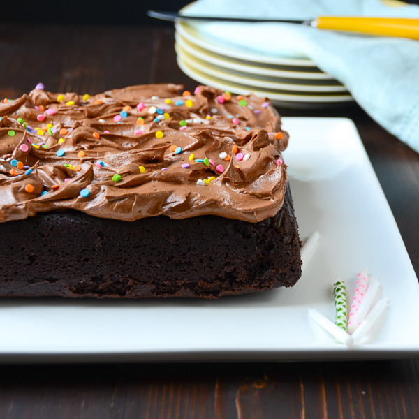 Easy Chocolate Cake with Chocolate Frosting | Garlic + Zest