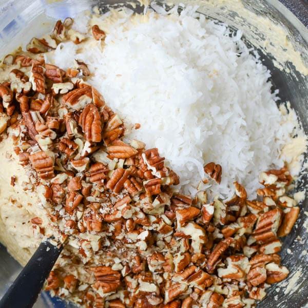 coconut pecan blondies | Garlic + Zest