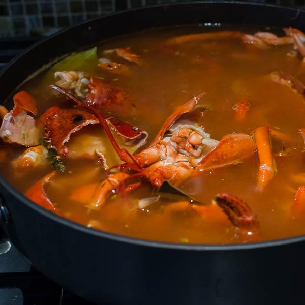 Homemade Lobster Stock | Garlic + Zest