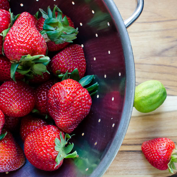 Strawberry Margarita Ice Pops | Garlic + Zest