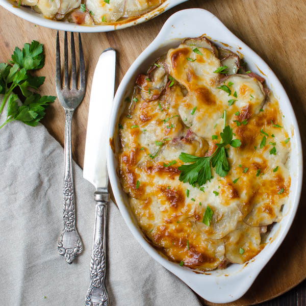 Potato and Ham Au Gratin-15