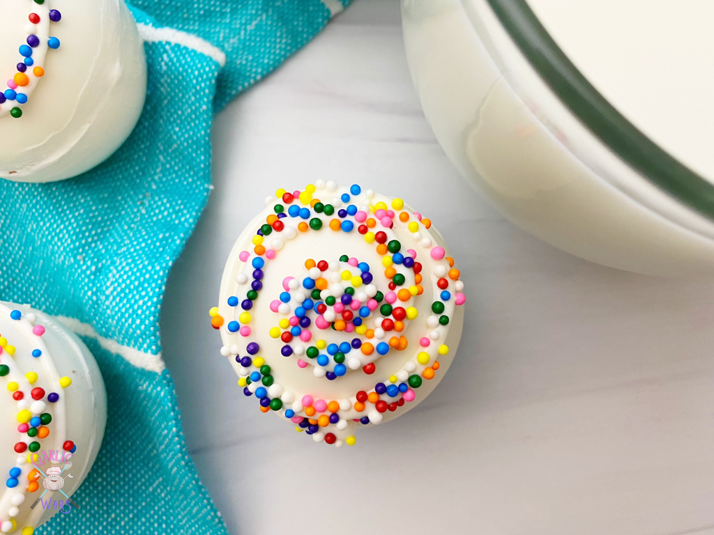 cappuccino bomb with sprinkles