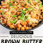 brown butter scallop pasta for pinterest