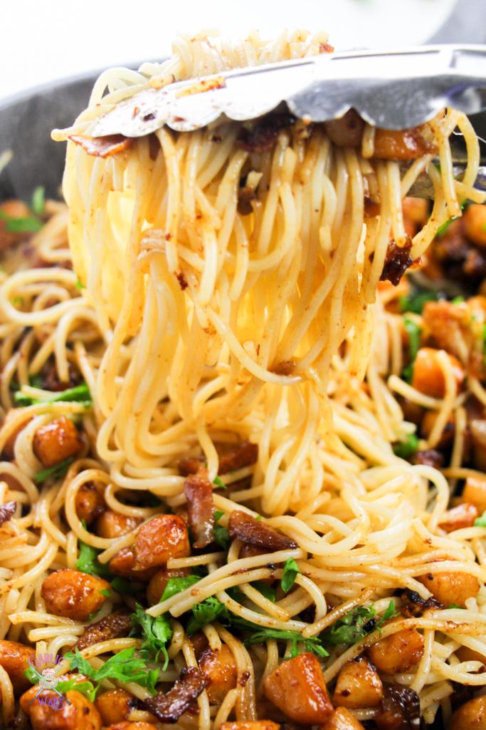 brown butter scallop pasta