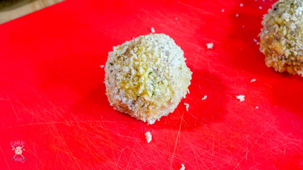 chicken meatballs before frying