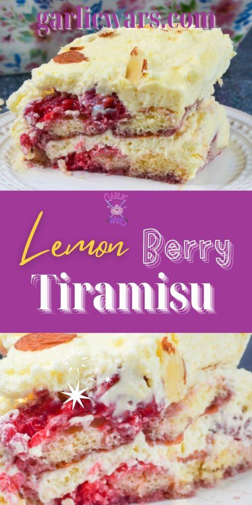 lemon berry tiramisu pinterest