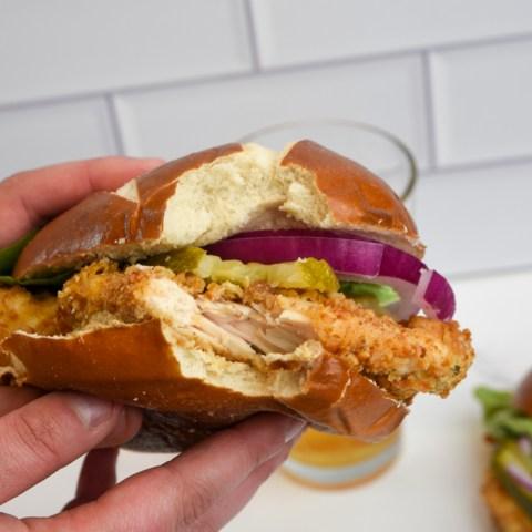 pretzel chicken sandwich