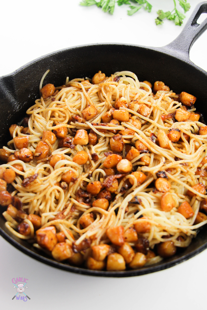 pasta and scallops