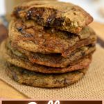 coffee chocolate chip cookies for pinterest