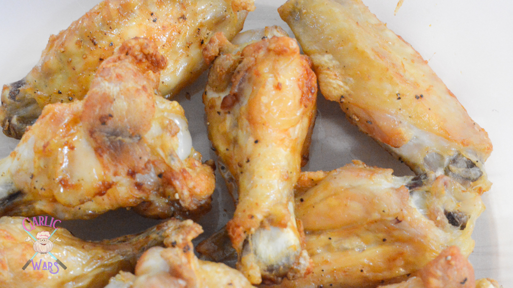 chicken wings immediately after being taken out of air fryer