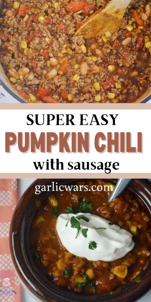 pumpkin chili for pinterest