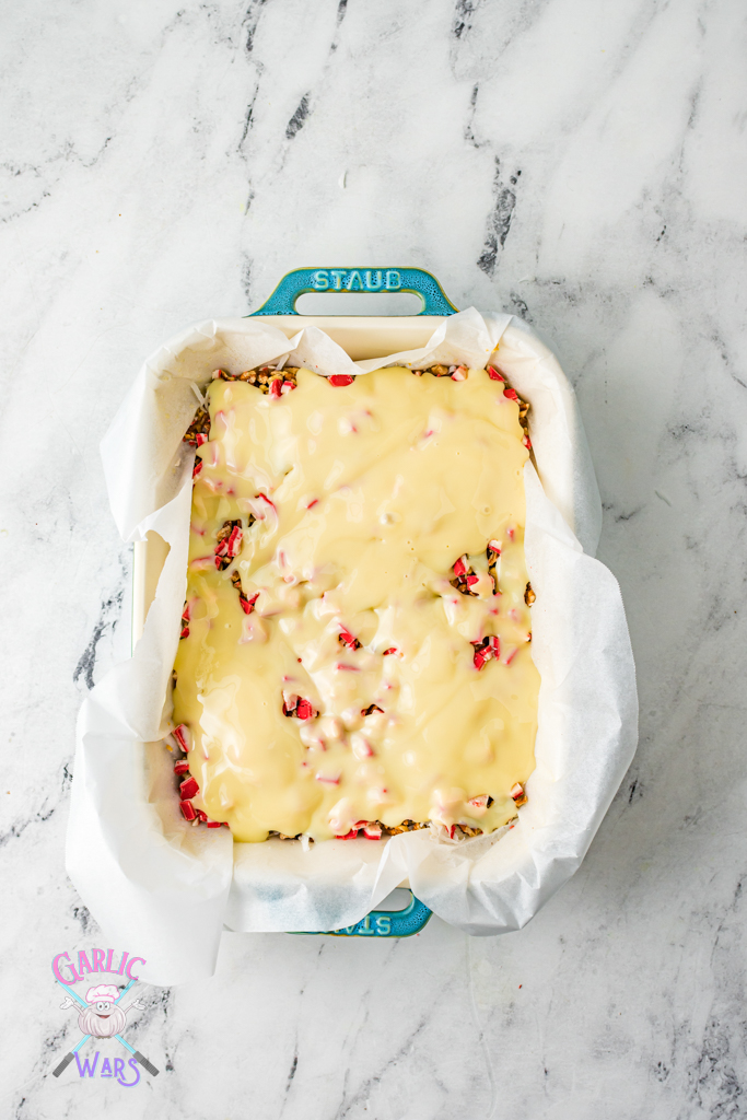 sweetened condensed milk over the top