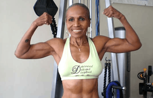 This woman is 74 years young
