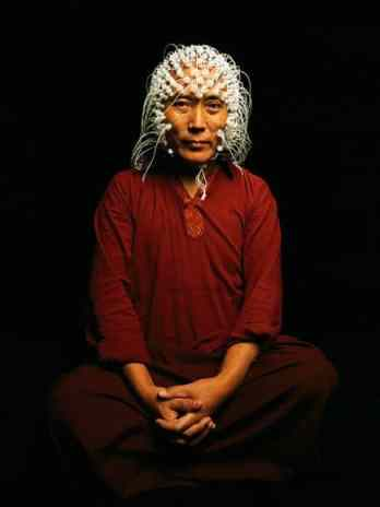 Brain imaging test monks brainwave frequencies