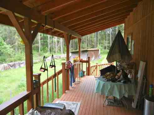 The deck at the homestead