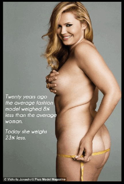 Average size and shape of American woman