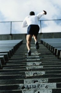 Sprinting up stairs boosts HGH production