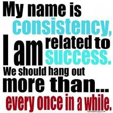 Consistency is related to success