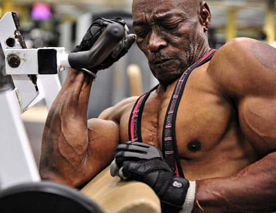 Sonny Bright fit and muscular at 70
