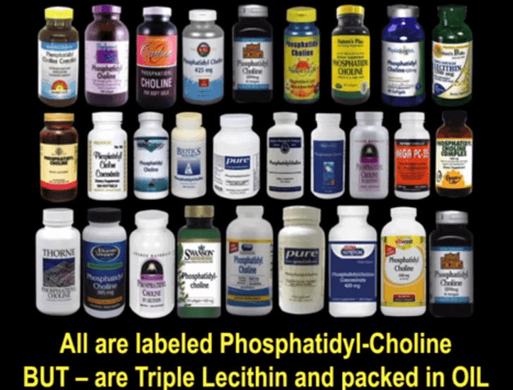 Triple Lecithin Supplements Sold As Phosphatidyl-Choline