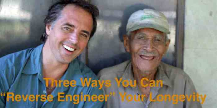 Dan Buettner with 100 yr old Felipe Gudoy