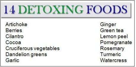14 detoxifyng foods