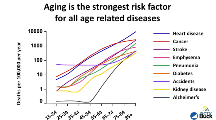 Dr. Verdin: aging is the strongest risk factor for all age related diseases