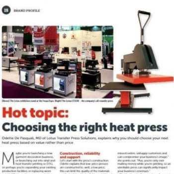 Choosing the right heat press...