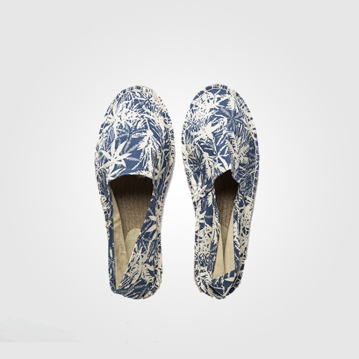 Blue and White Palm tree Espadrilles