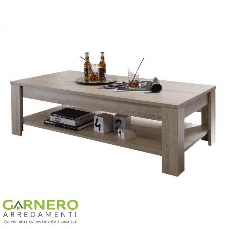 Tavolino da salotto RUSTICA con ripiano rovere samoa