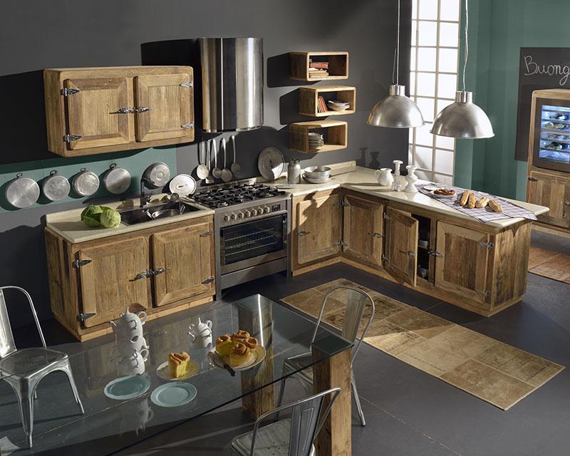 Cucine in legno naturale CharmeyGarnero design