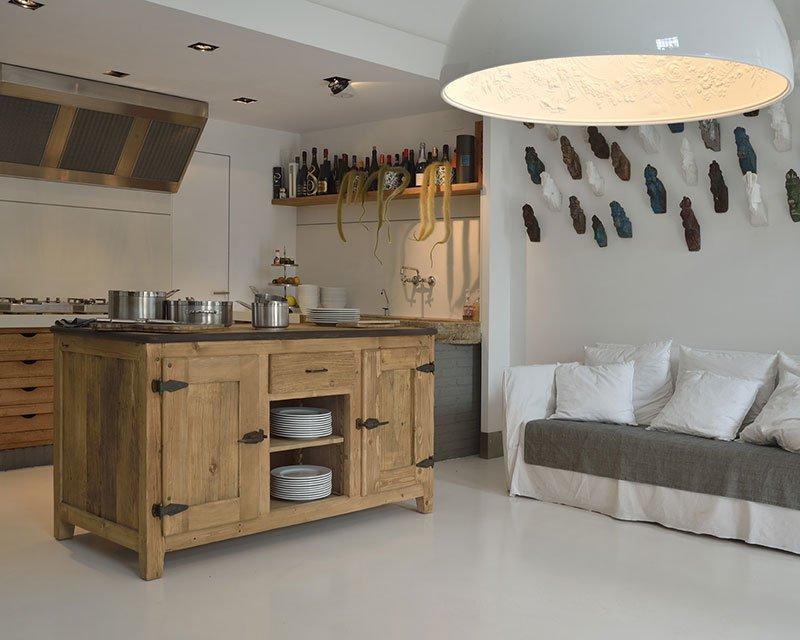 Cucine in legno Naturale Cloe Garnero design