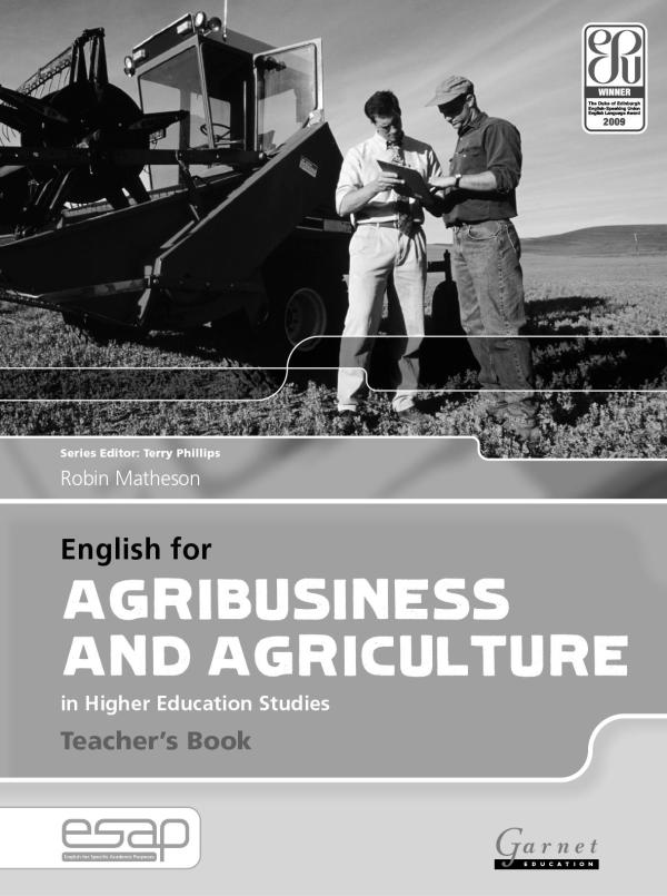English Agribusiness And Agriculture In Higher